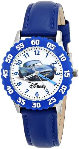 Disney Kids' W000086 Cars Stainless Steel Time Teacher Watch